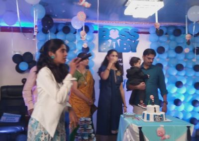 Boss Baby Theme Backdrop Chennai Event Emcees and Entertainers Birthday Decoration Team