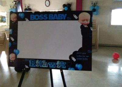 Boss Baby Theme Wish Board Chennai Event Emcees and Entertainers Birthday Decoration Team