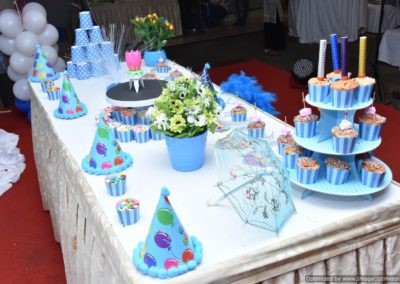 Cake Table side view Finding Nemo Theme Birthday Party Decoration by Chennai Event Emcees