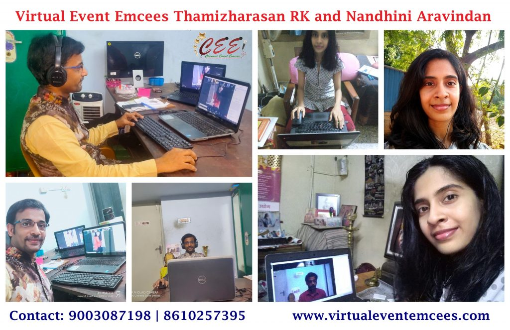 2 important roles of a Virtual Emcee in an Online Event_Anchors Nandhini Aravindan and Thamizharasan RK